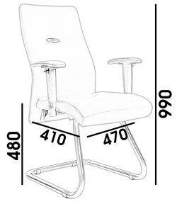 Kích thước ghế xoay văn phòng VM 325a